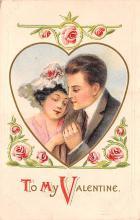 val200537 - Valentines Day Post Card Old Vintage Antique Postcard