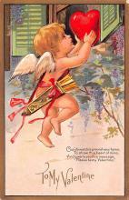val200541 - Valentines Day Post Card Old Vintage Antique Postcard