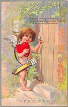 val200543 - Valentines Day Post Card Old Vintage Antique Postcard