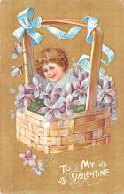 val200551 - Valentines Day Post Card Old Vintage Antique Postcard