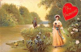val200553 - Valentines Day Post Card Old Vintage Antique Postcard