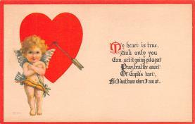 val200555 - Valentines Day Post Card Old Vintage Antique Postcard