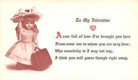 val200573 - Valentines Day Post Card Old Vintage Antique Postcard