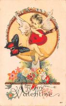 val200575 - Valentines Day Post Card Old Vintage Antique Postcard