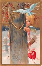 val200579 - Valentines Day Post Card Old Vintage Antique Postcard