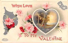 val200585 - Valentines Day Post Card Old Vintage Antique Postcard