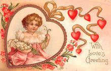 val200591 - Valentines Day Post Card Old Vintage Antique Postcard