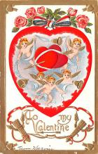 val200595 - Valentines Day Post Card Old Vintage Antique Postcard