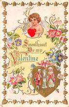 val200599 - Valentines Day Post Card Old Vintage Antique Postcard