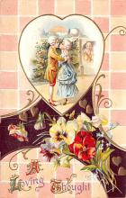 val200601 - Valentines Day Post Card Old Vintage Antique Postcard