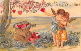 val200605 - Valentines Day Post Card Old Vintage Antique Postcard