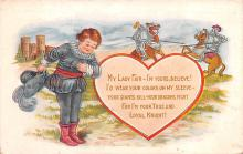 val200609 - Valentines Day Post Card Old Vintage Antique Postcard
