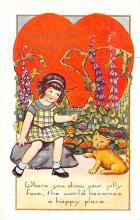 val200611 - Valentines Day Post Card Old Vintage Antique Postcard