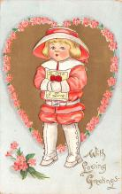 val200613 - Valentines Day Post Card Old Vintage Antique Postcard