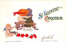 val200615 - Valentines Day Post Card Old Vintage Antique Postcard