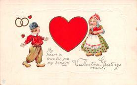 val200619 - Valentines Day Post Card Old Vintage Antique Postcard