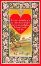 val200621 - Valentines Day Post Card Old Vintage Antique Postcard