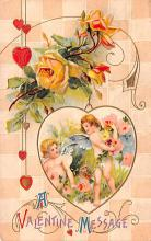 val200623 - Valentines Day Post Card Old Vintage Antique Postcard