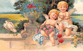 val200633 - Valentines Day Post Card Old Vintage Antique Postcard