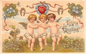 val200635 - Valentines Day Post Card Old Vintage Antique Postcard