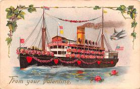 val200637 - Valentines Day Post Card Old Vintage Antique Postcard