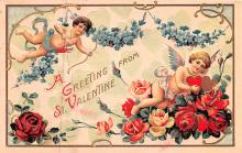val200643 - Valentines Day Post Card Old Vintage Antique Postcard