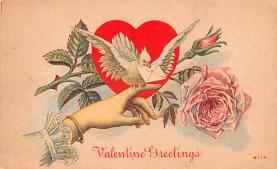 val200657 - Valentines Day Post Card Old Vintage Antique Postcard