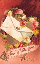 val200659 - Valentines Day Post Card Old Vintage Antique Postcard