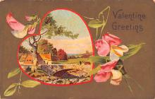 val200673 - Valentines Day Post Card Old Vintage Antique Postcard