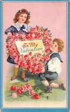 val200675 - Valentines Day Post Card Old Vintage Antique Postcard
