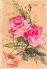 val200679 - Valentines Day Post Card Old Vintage Antique Postcard