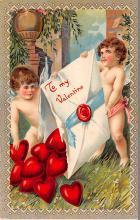 val200691 - Valentines Day Post Card Old Vintage Antique Postcard
