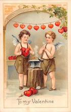 val200695 - Valentines Day Post Card Old Vintage Antique Postcard