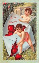 val200699 - Valentines Day Post Card Old Vintage Antique Postcard