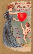 val200701 - Valentines Day Post Card Old Vintage Antique Postcard