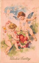 val200703 - Valentines Day Post Card Old Vintage Antique Postcard