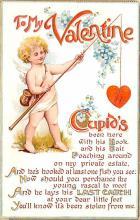 val200705 - Valentines Day Post Card Old Vintage Antique Postcard