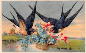 val200709 - Valentines Day Post Card Old Vintage Antique Postcard