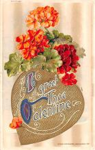 val200711 - Valentines Day Post Card Old Vintage Antique Postcard