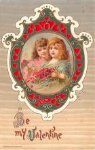 val200713 - Valentines Day Post Card Old Vintage Antique Postcard