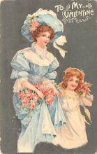 val200715 - Valentines Day Post Card Old Vintage Antique Postcard