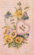 val200717 - Valentines Day Post Card Old Vintage Antique Postcard