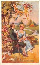 val200721 - Valentines Day Post Card Old Vintage Antique Postcard