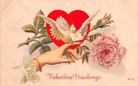 val200723 - Valentines Day Post Card Old Vintage Antique Postcard