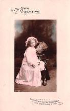 val200727 - Valentines Day Post Card Old Vintage Antique Postcard