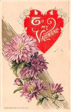 val200729 - Valentines Day Post Card Old Vintage Antique Postcard
