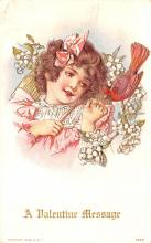 val200731 - Valentines Day Post Card Old Vintage Antique Postcard