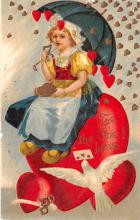 val200735 - Valentines Day Post Card Old Vintage Antique Postcard