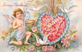 val200745 - Valentines Day Post Card Old Vintage Antique Postcard