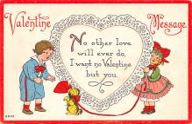 val200747 - Valentines Day Post Card Old Vintage Antique Postcard